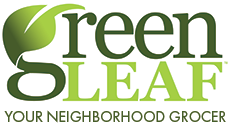 A theme logo of GreenLeaf Market