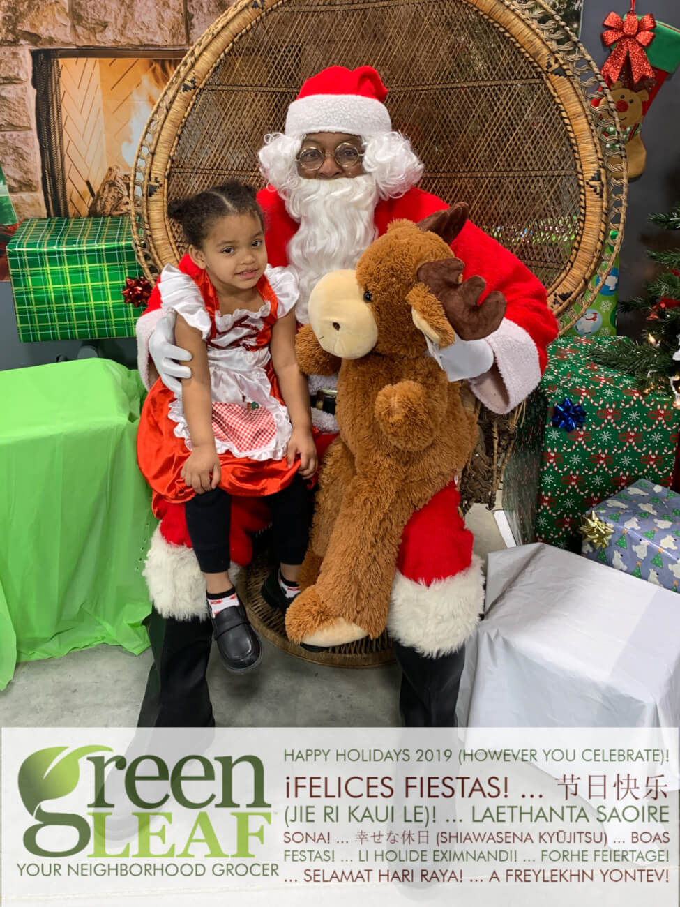 Free Pictures with Santa for children and adults St. Louis at GreenLeaf Market