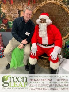 Steve Roberts GreenLeaf Market Store Director with Santa
