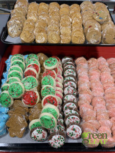 Christmas cookies at GreenLeaf Market