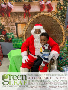 GreenLeaf Market Holiday Event with Santa Clause Photos