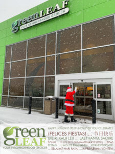 Snow and Santa at GreenLeaf Market