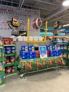 foot ball party sale at GreenLeaf Market