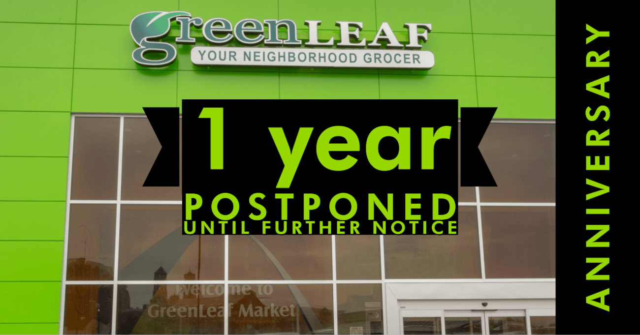 We are sorry to announce that we are postponing our 1 year anniversary celebration due to the recent recommendations to not gather in groups of more than 10 people.